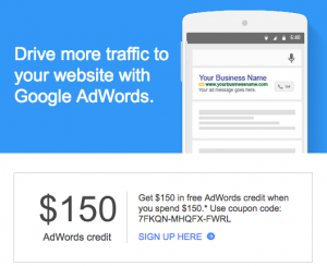 Google Adwords Credit Email Promo